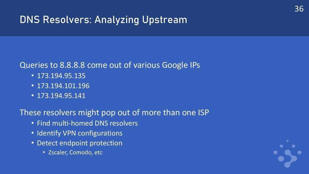 DNS Resolvers: Analyzing Upstream Queries to 8....