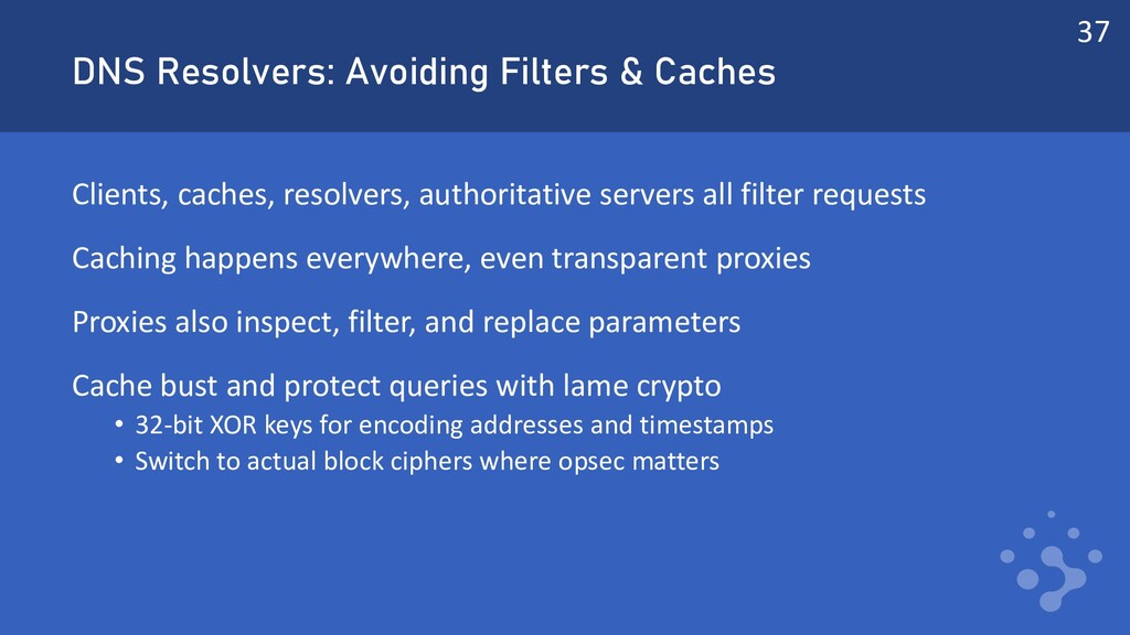 DNS Resolvers: Avoiding Filters & Caches Client...