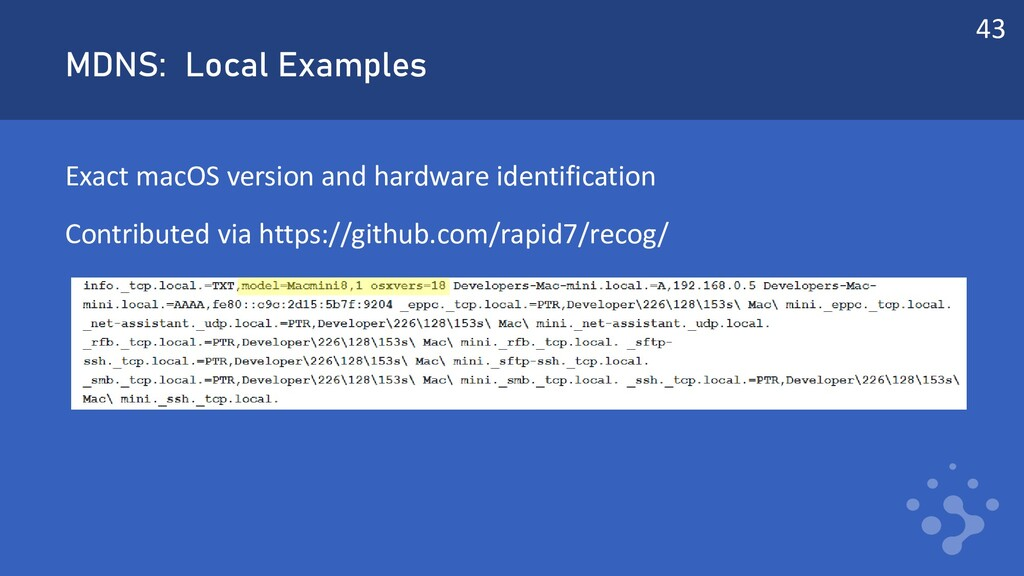 MDNS: Local Examples Exact macOS version and ha...
