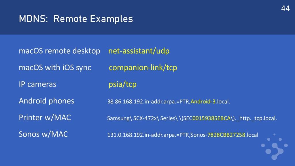 MDNS: Remote Examples macOS remote desktop net-...