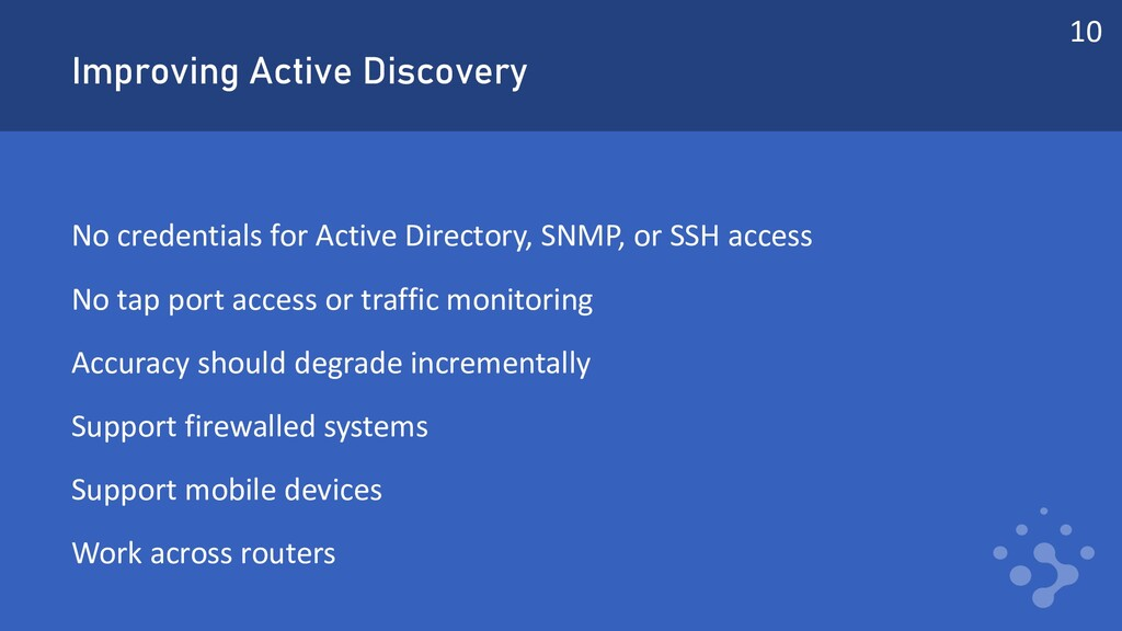 Improving Active Discovery No credentials for A...