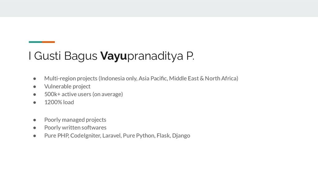 I Gusti Bagus Vayupranaditya P. ● Multi-region ...