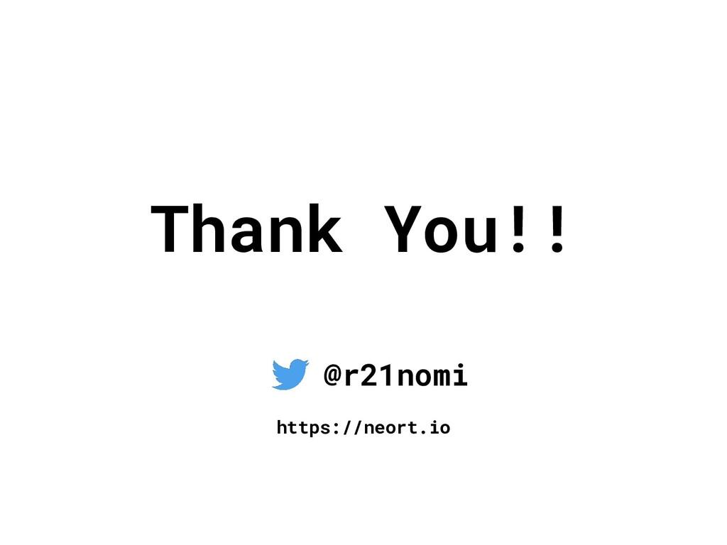 Thank You!! @r21nomi https://neort.io