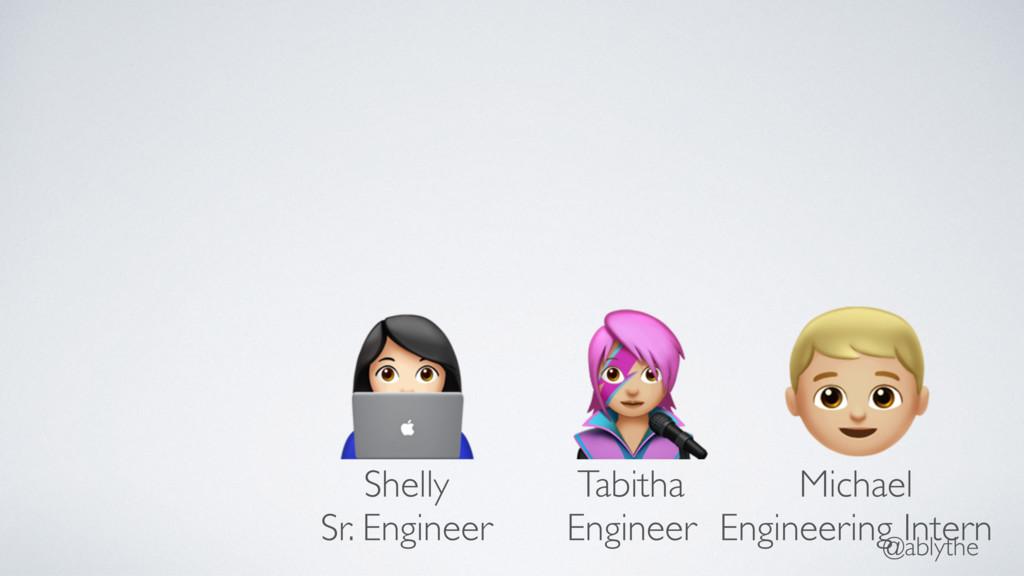 @ablythe % $ & Shelly Sr. Engineer Tabitha Engi...