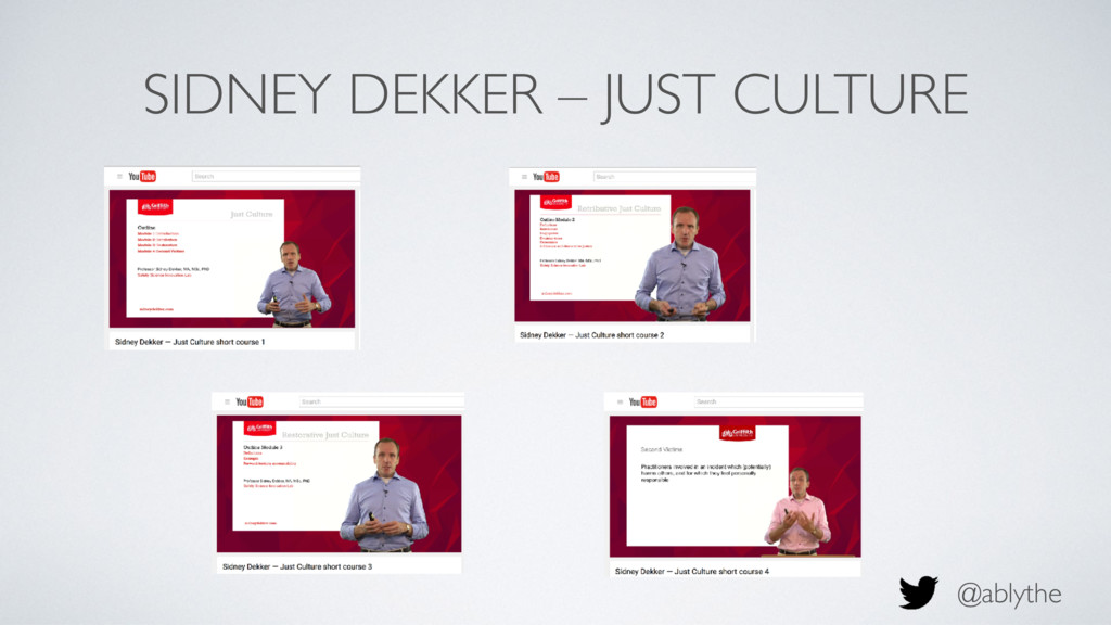 @ablythe SIDNEY DEKKER – JUST CULTURE