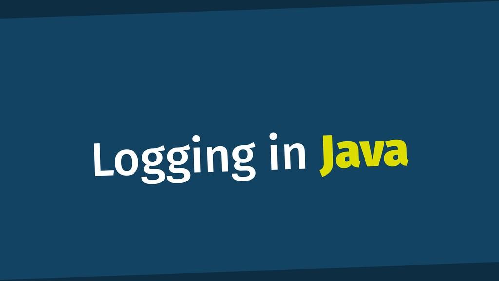 Logging in Java