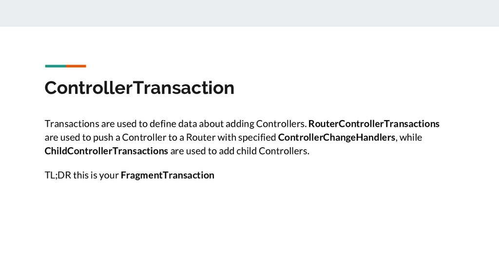 ControllerTransaction Transactions are used to ...