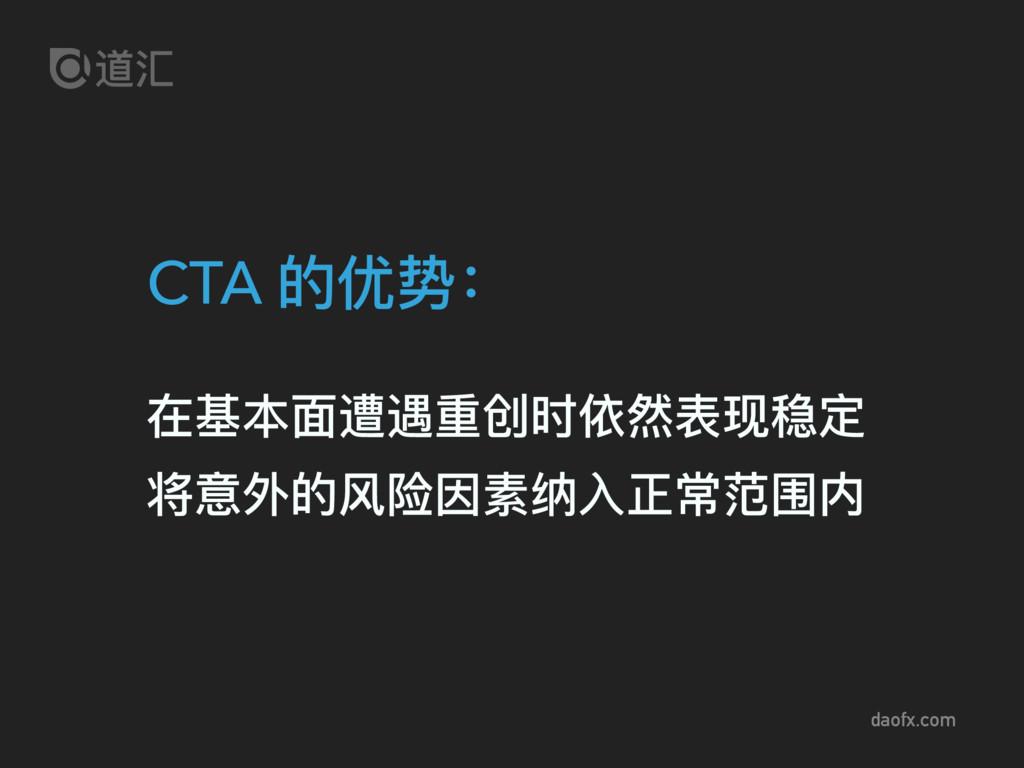 daofx.com CTA 的优势: 在基本⾯面遭遇重创时依然表现稳定 将意外的⻛风险因素纳⼊...