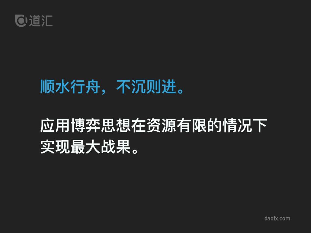 daofx.com 顺⽔水⾏行行⾈舟,不不沉则进。 应⽤用博弈思想在资源有限的情况下 实现最⼤...