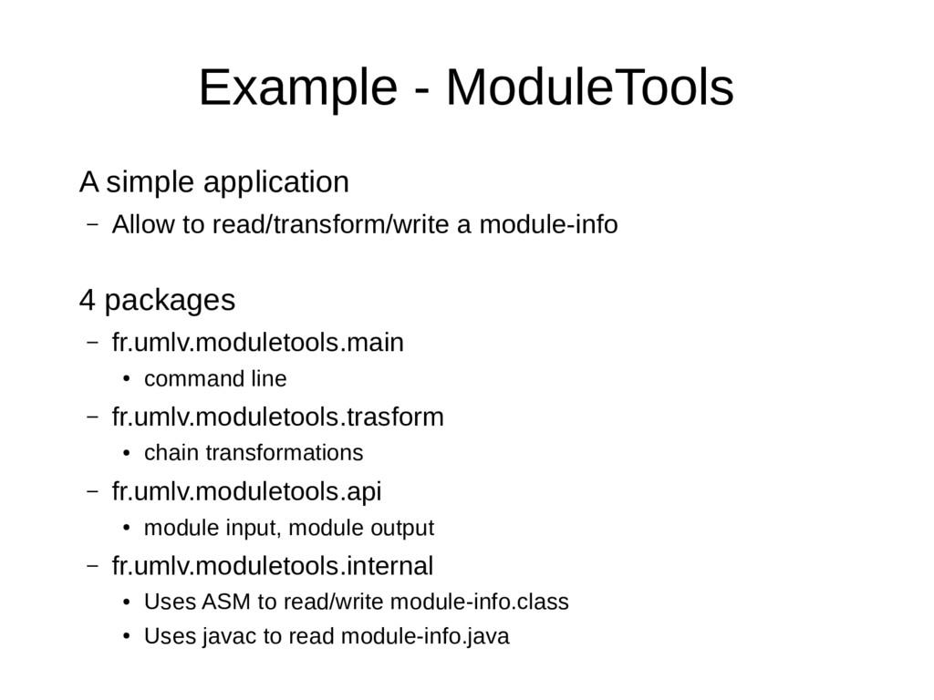 Example - ModuleTools A simple application – Al...