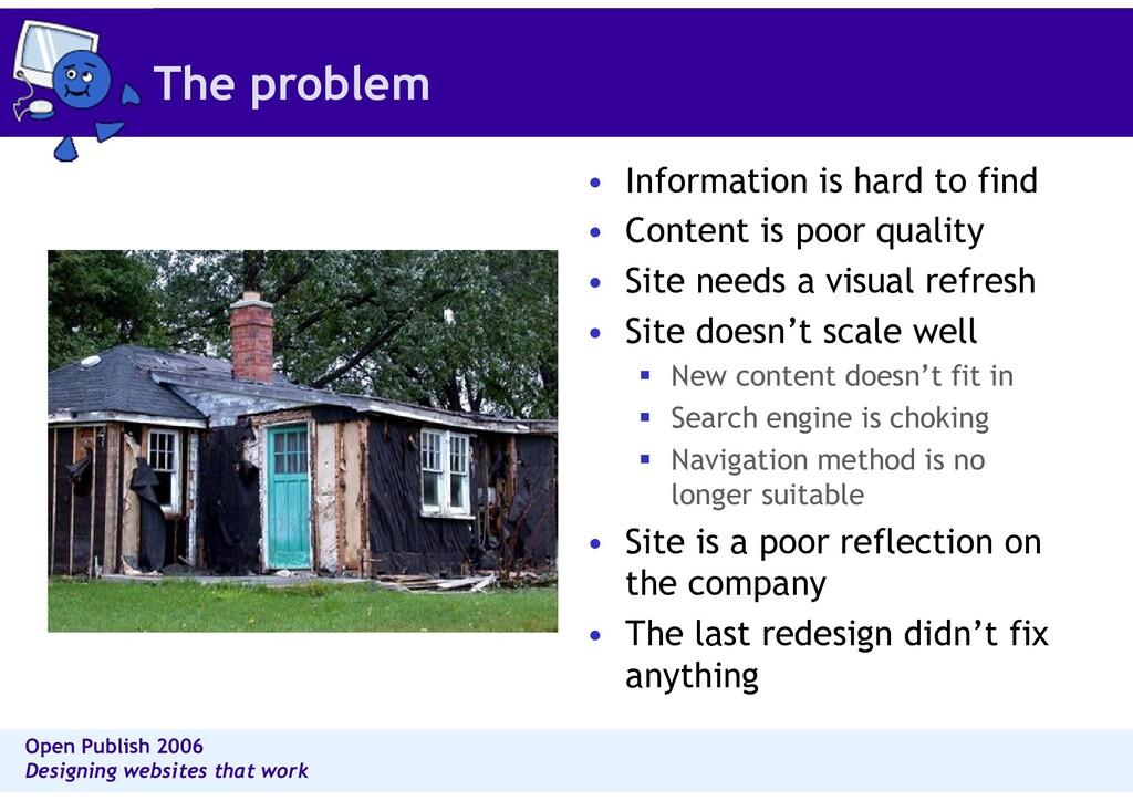 Open Publish 2006 Designing websites that work ...