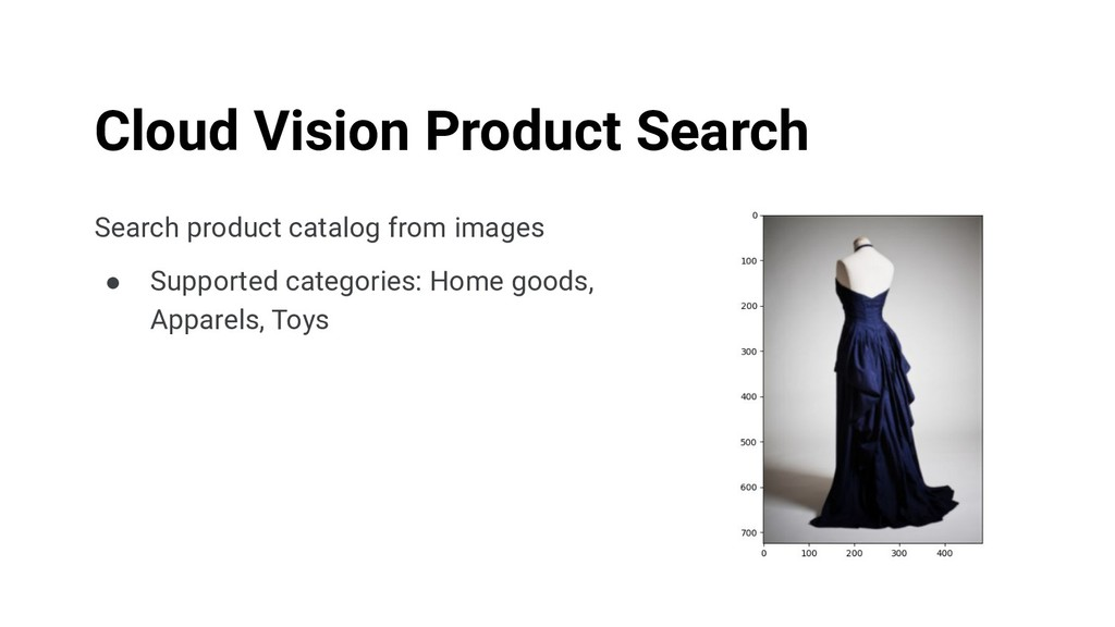Search product catalog from images ● Supported ...