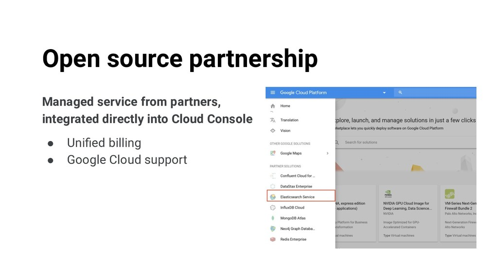 Managed service from partners, integrated direc...