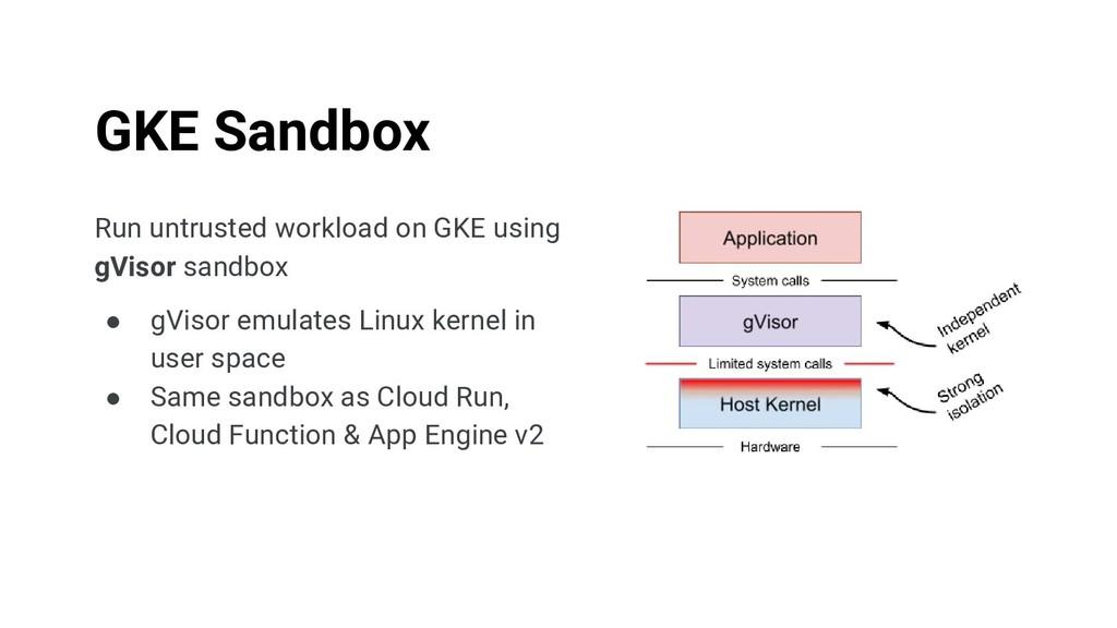Run untrusted workload on GKE using gVisor sand...