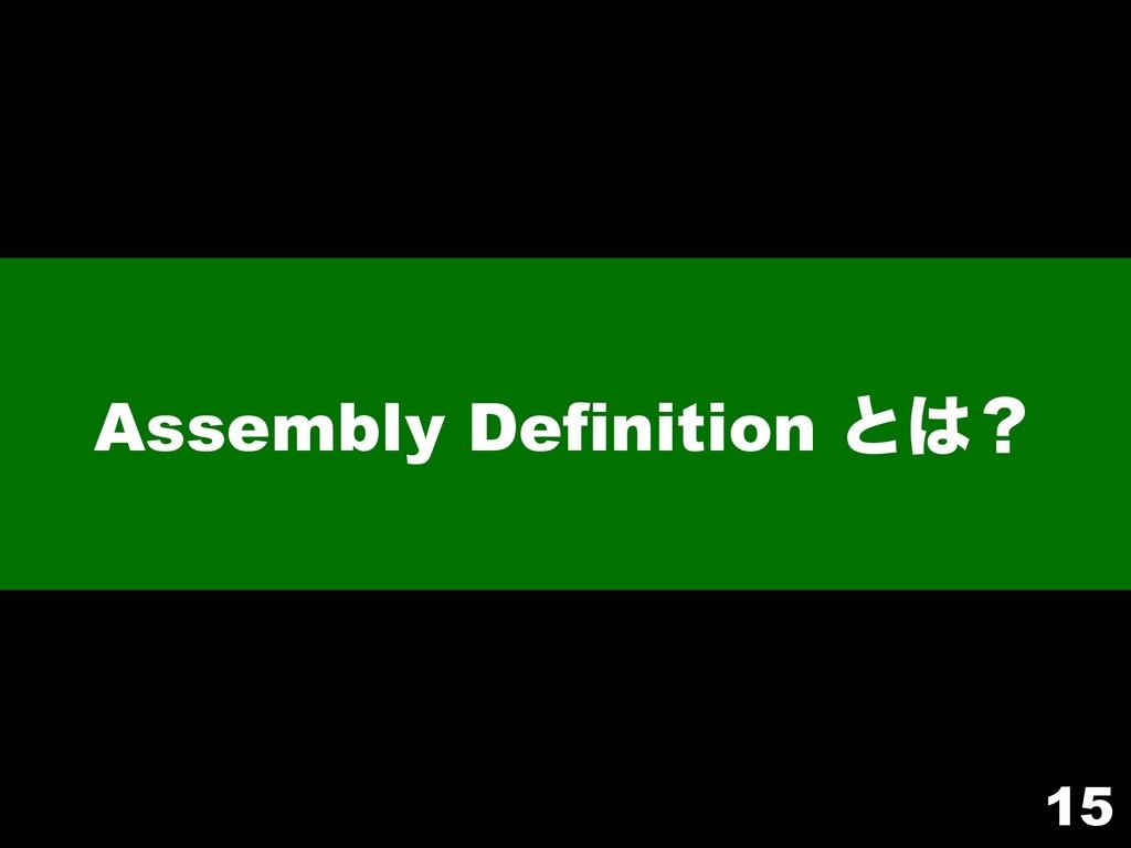 Assembly Definition ͱʁ 15
