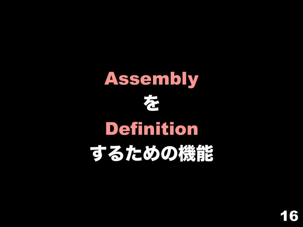 16 Assembly Λ Definition ͢ΔͨΊͷػ