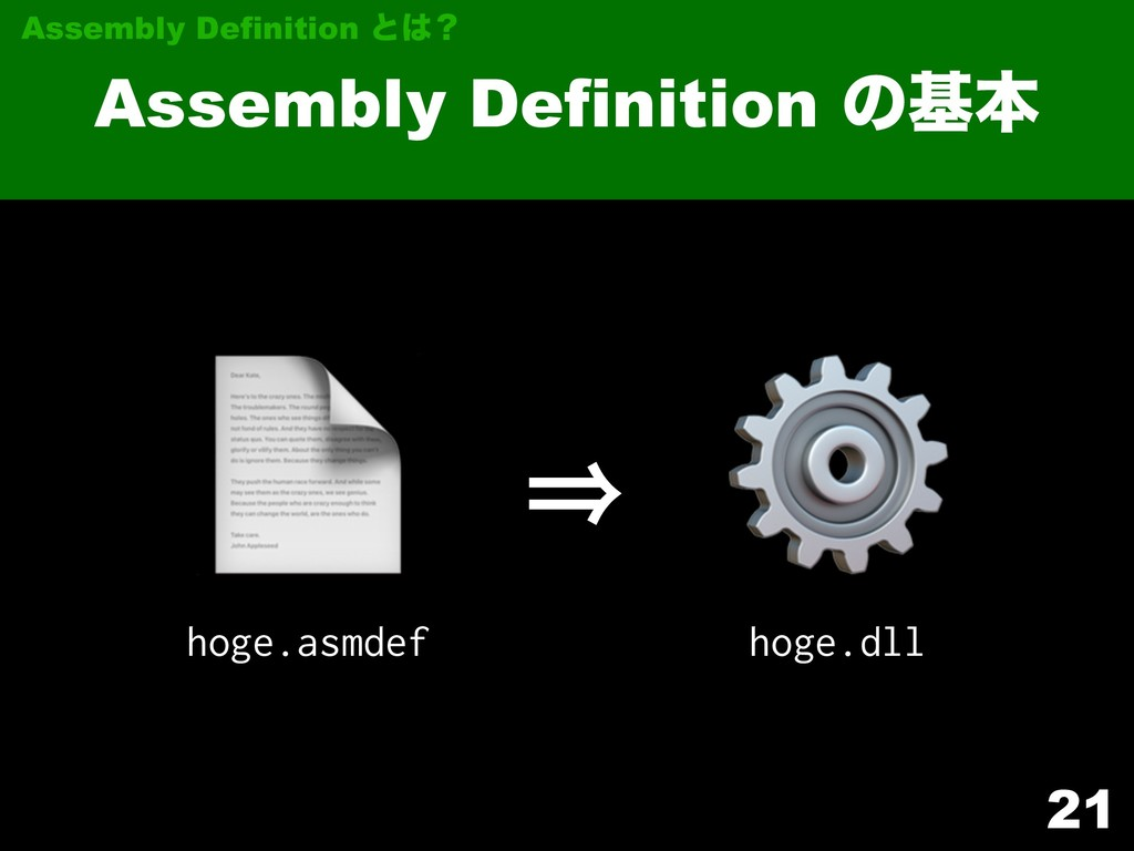 21 Assembly Definition ͷجຊ Assembly Definition ...