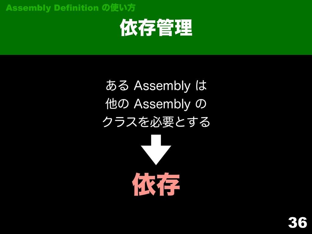 "36 ґଘཧ Assembly Definition ͷ͍ํ ͋Δ""TTFNCMZ..."