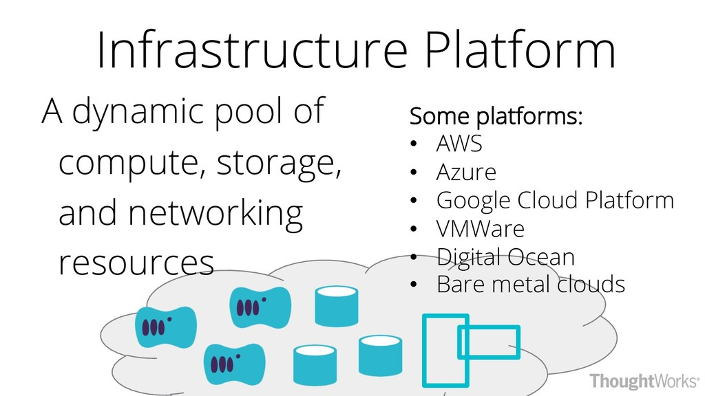 Some platforms: • AWS • Azure • Google Cloud Pl...