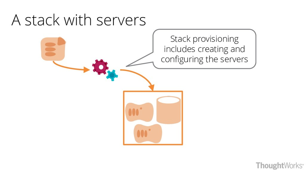 A stack with servers Stack provisioning include...