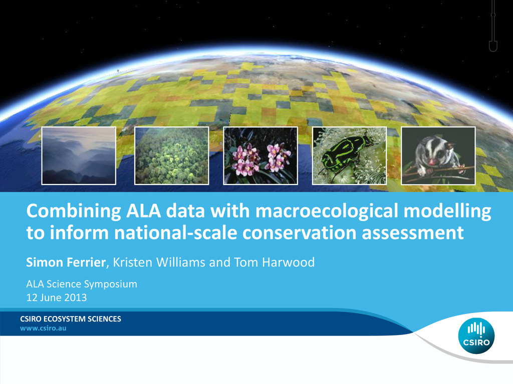 Combining ALA data with macroecological modelli...