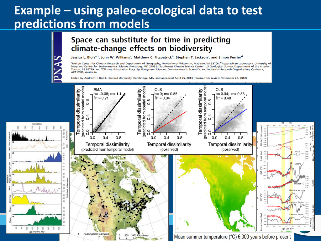 Example – using paleo-ecological data to test p...