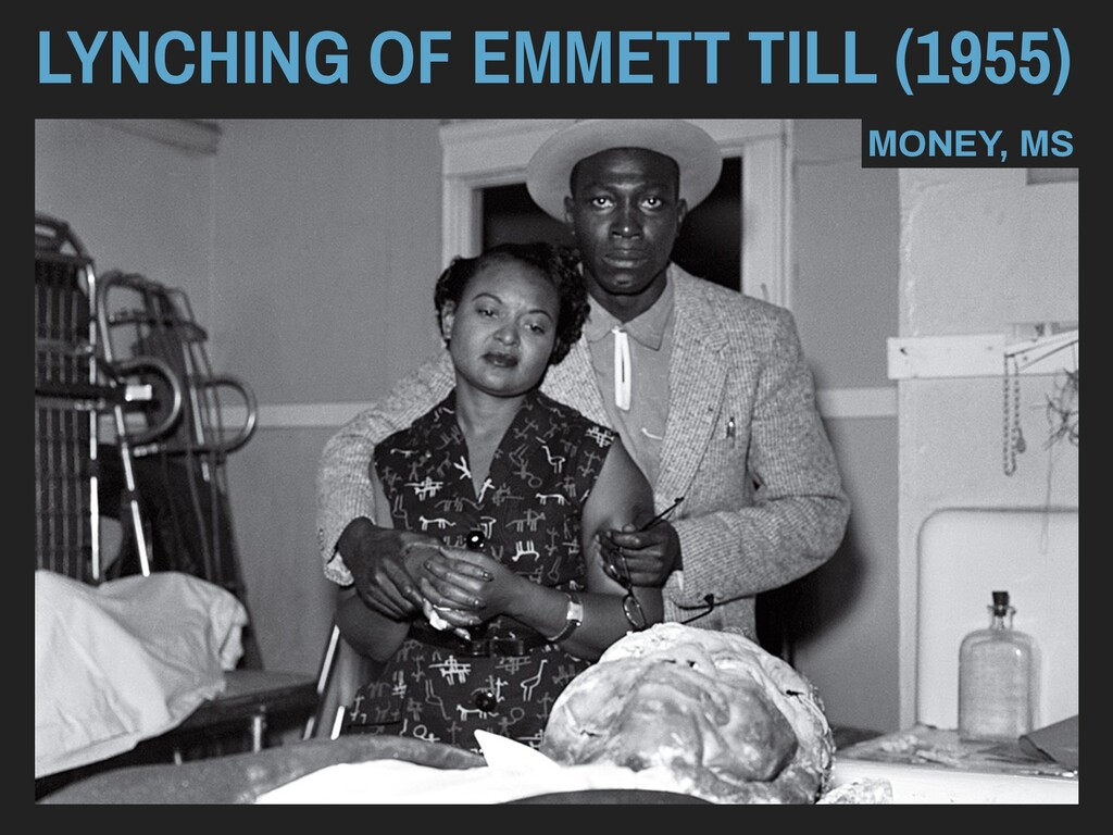 LYNCHING OF EMMETT TILL (1955) MONEY, MS