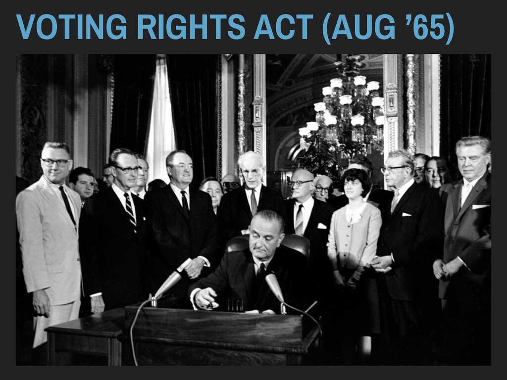 VOTING RIGHTS ACT (AUG '65)
