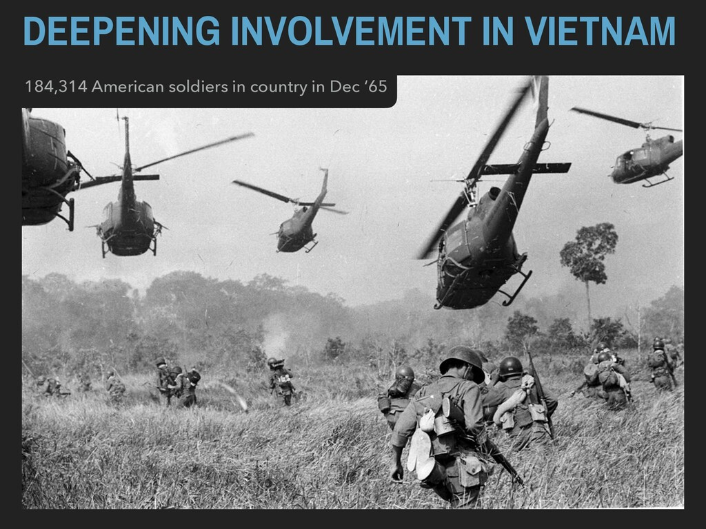 DEEPENING INVOLVEMENT IN VIETNAM 184,314 Americ...