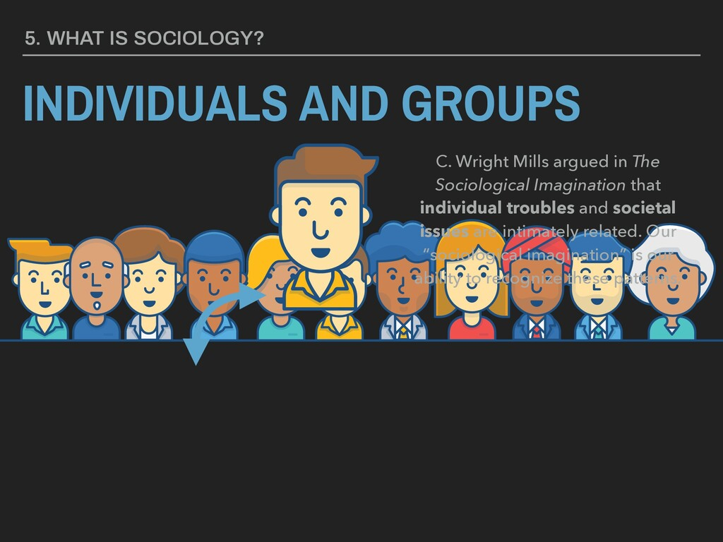 5. WHAT IS SOCIOLOGY? INDIVIDUALS AND GROUPS C....
