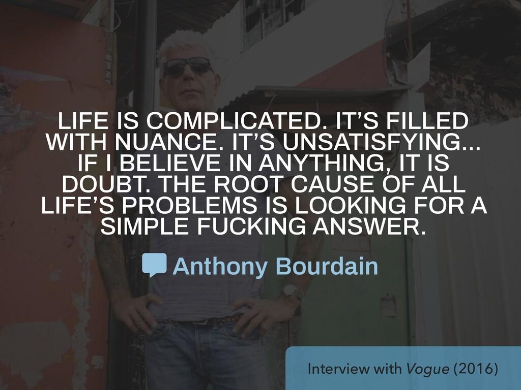 Interview with Vogue (2016) Anthony Bourdain LI...