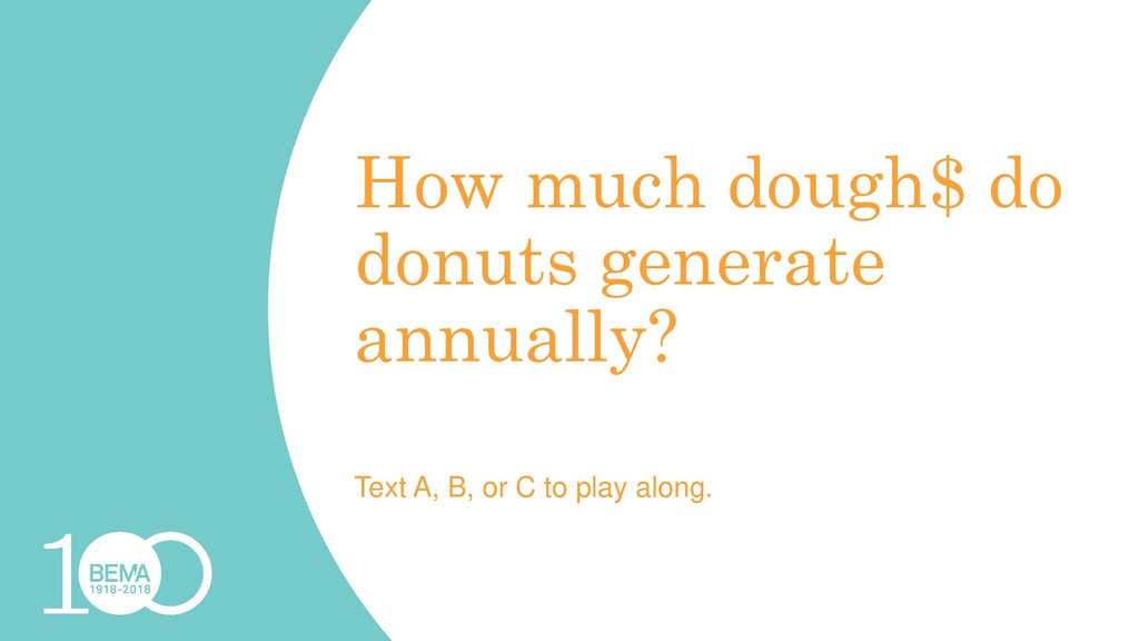 How much dough$ do donuts generate annually? Te...