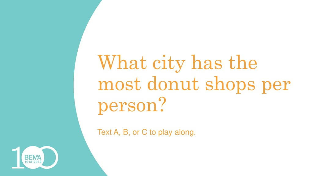 What city has the most donut shops per person? ...
