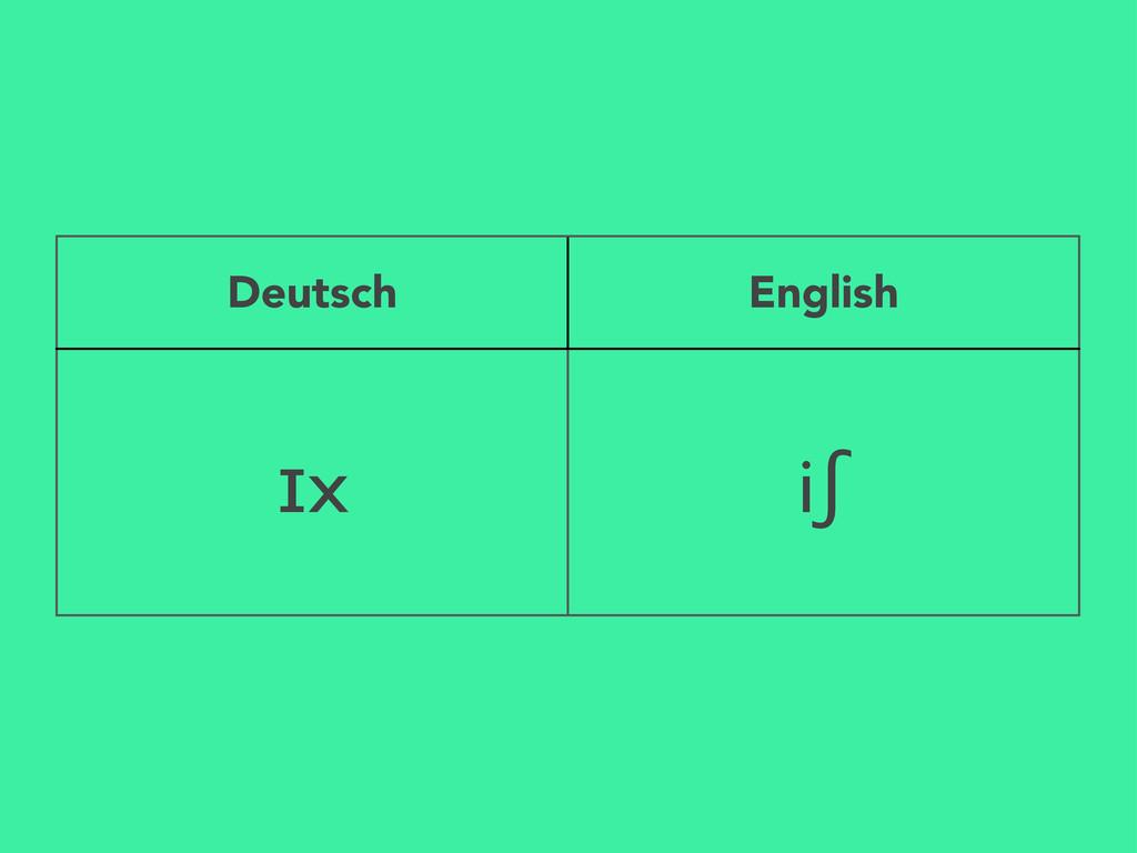 Deutsch English ɪx iʃ