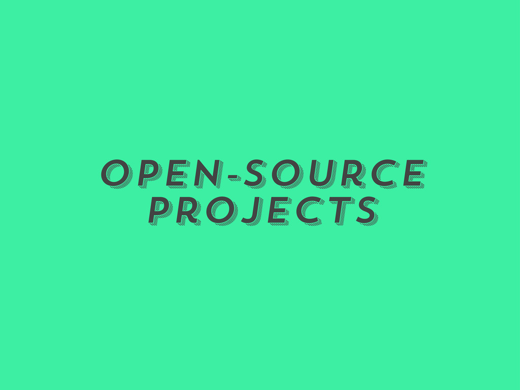 Open-Source Projects