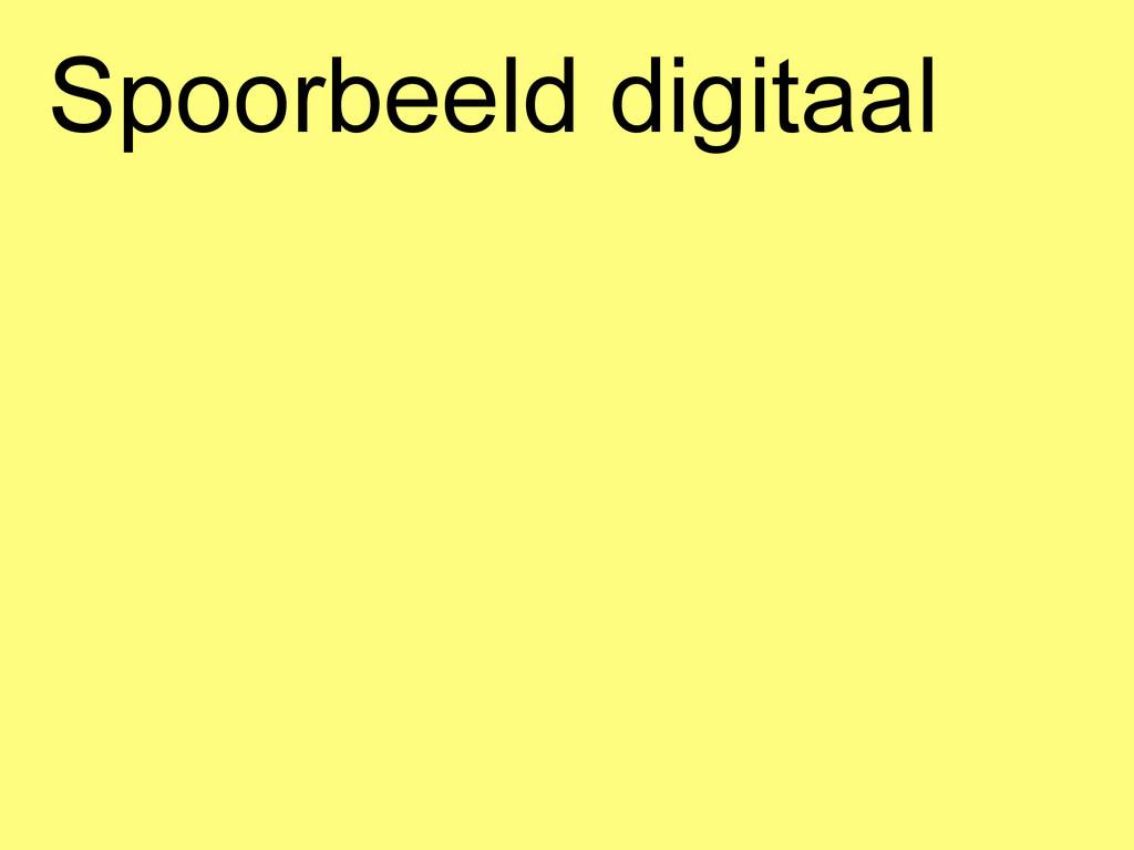Spoorbeeld digitaal