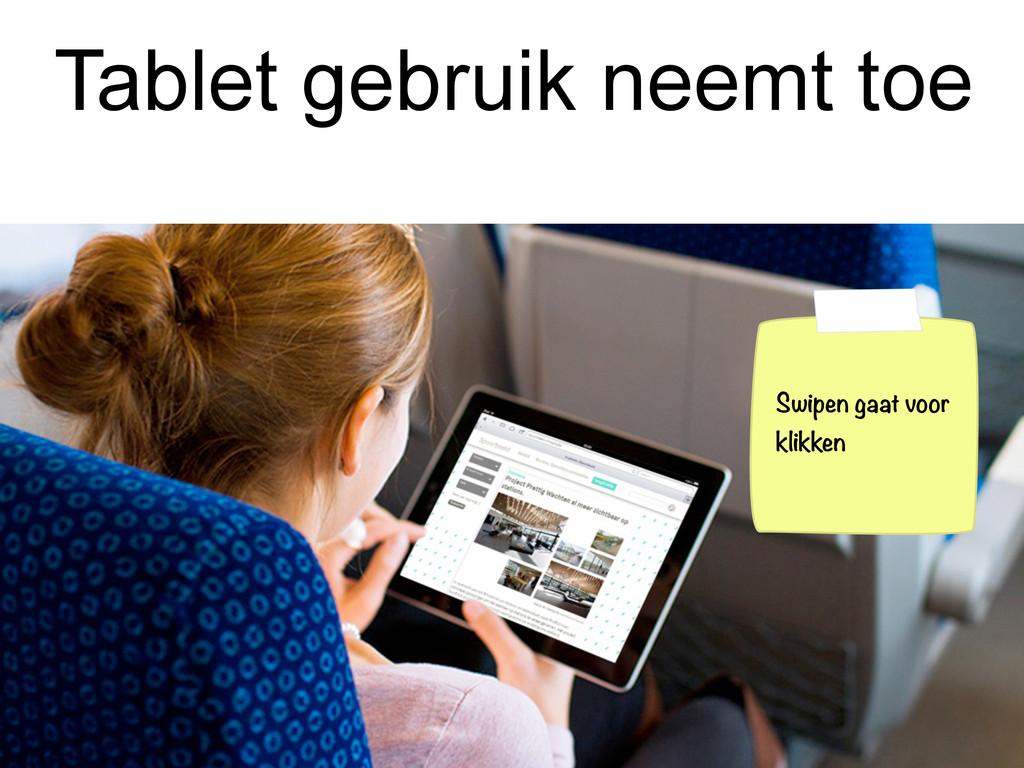 Tablet gebruik neemt toe Swipen gaat voor klikk...