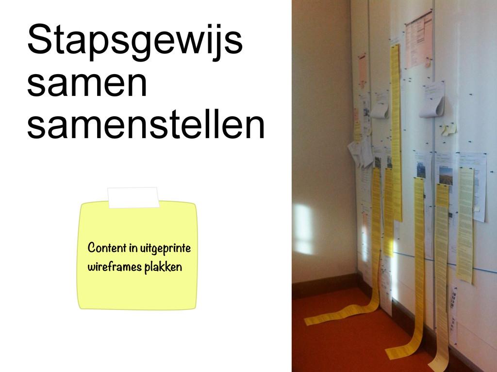 Stapsgewijs samen samenstellen Content in uitge...