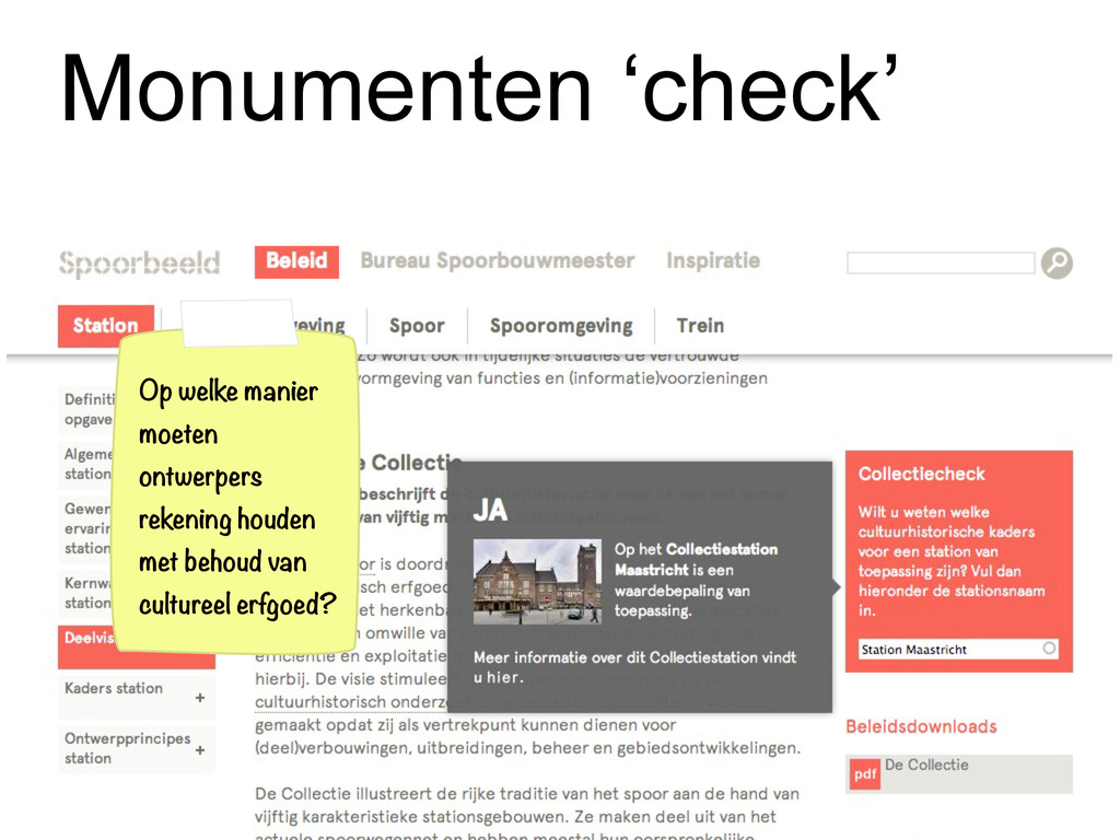 Monumenten 'check' Op welke manier moeten ontwe...