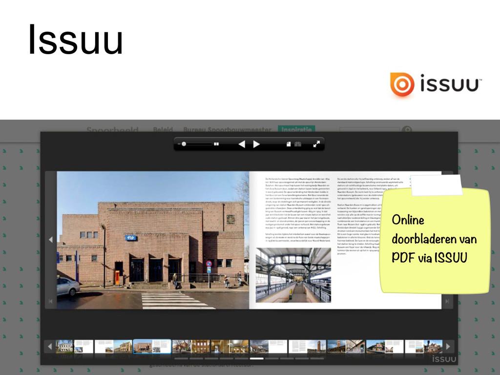 Issuu Online doorbladeren van PDF via ISSUU