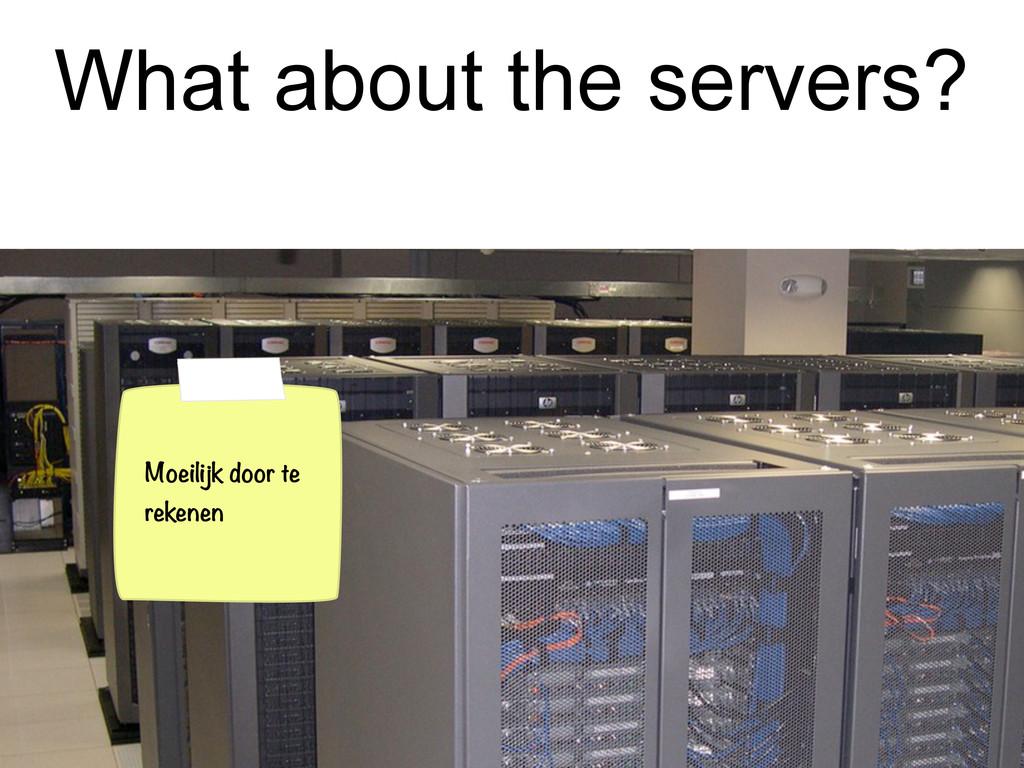 What about the servers? Moeilijk door te rekenen