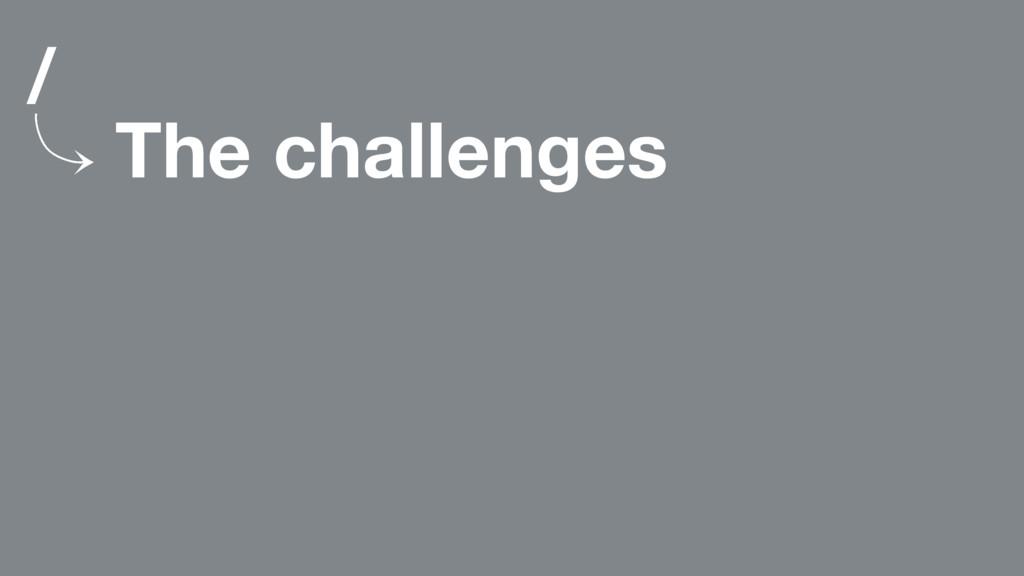 / 䡿 The challenges