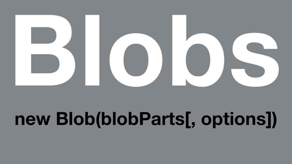 Blobs new Blob(blobParts[, options])
