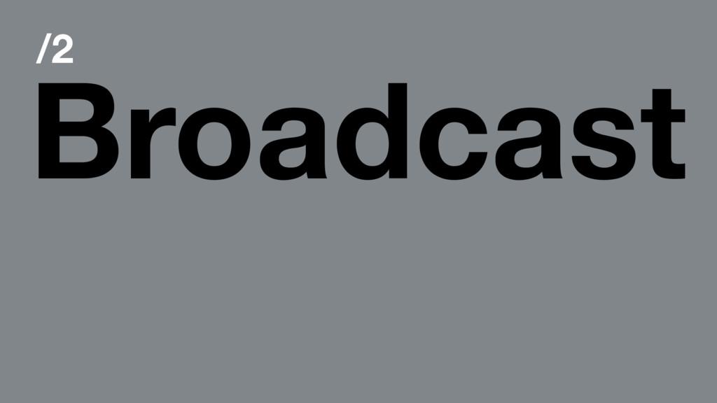 /2 Broadcast