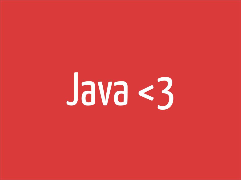 Java <3