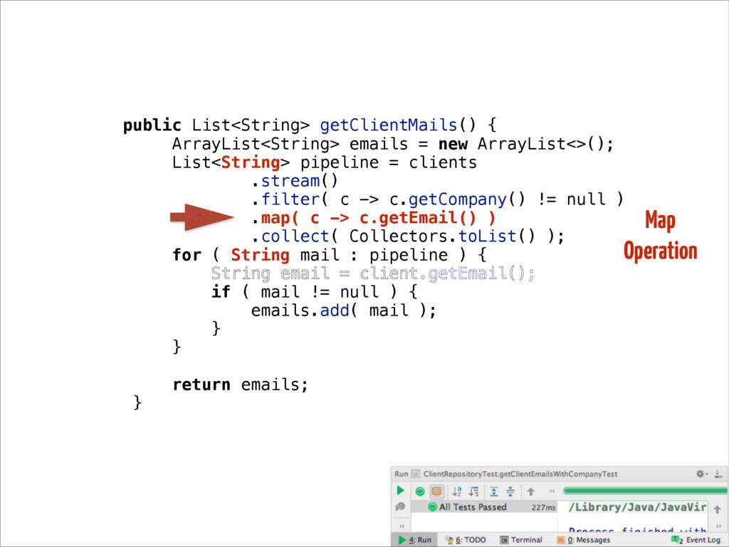 public List<String> getClientMails() { ArrayLis...