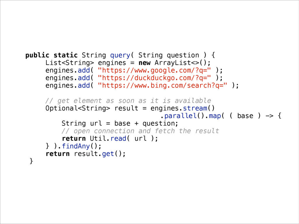 public static String query( String question ) {...