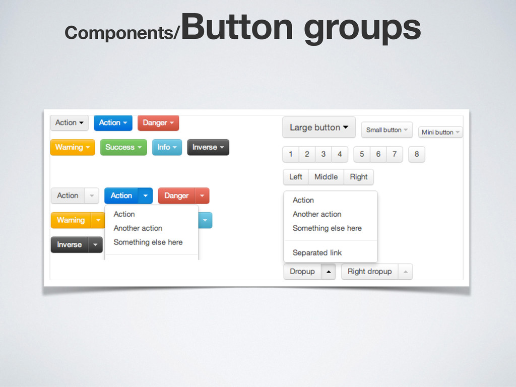 Components/ Button groups