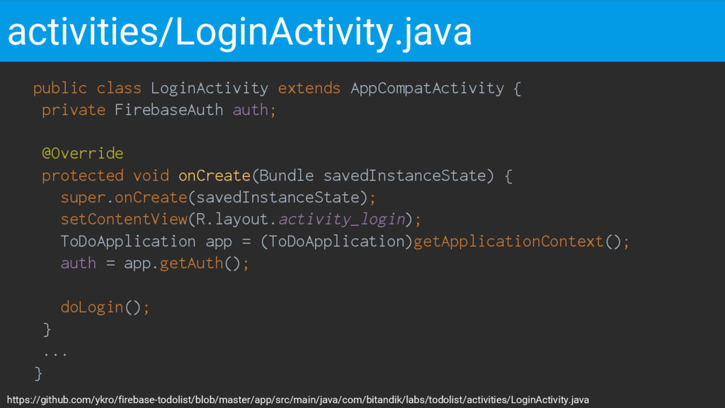 public class LoginActivity extends AppCompatAct...