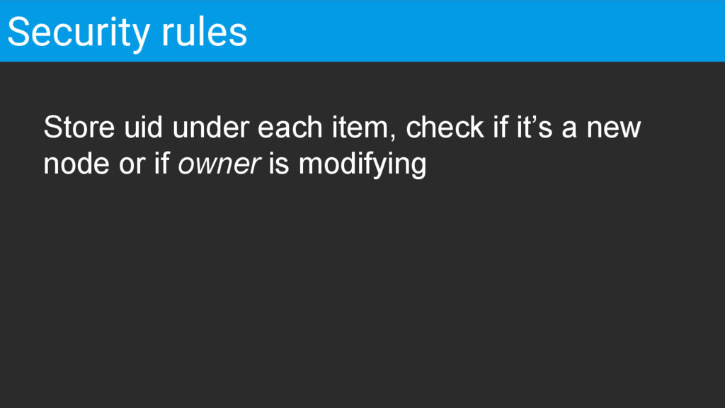 Store uid under each item, check if it's a new ...